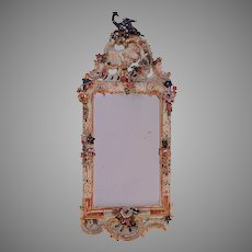 Wonderful Italian Carved and Painted Mirror (A.800)