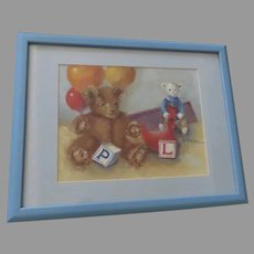 Vintage Charming Painting by A Peterson Children's Toys
