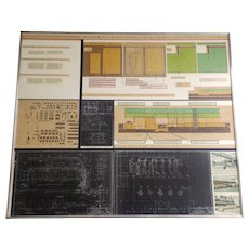 Large Engineer Symatic Architectural Presentation San Francisco Printing Co Newspaper Plant Mid Century Industrial