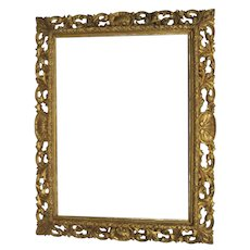 "Fabulous Large Carved and Gilt Frame 64"" by 50"" Shell Motif Non-Directional"