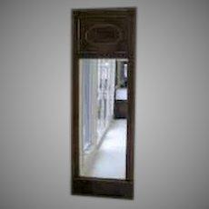 French Empire Long Narrow Mahogany Mirror