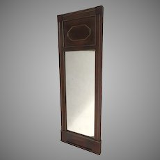 French Empire Mahogany and Brass Inlaid Mirror c 1810
