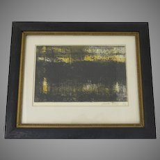 Abstract Etching by Mario Abis 1924-