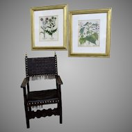 Pair of Hand Colored Copper Plated Botanical Engravings by Basilius Besler