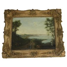 English  Early 19th Century Oil on Canvas Rural Scene