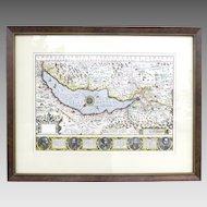 Map Lake Geneva c 1606