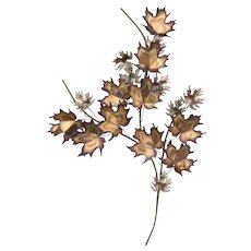 Vintage 1970 Curtis Jere Maple Leaves Wall Sculpture