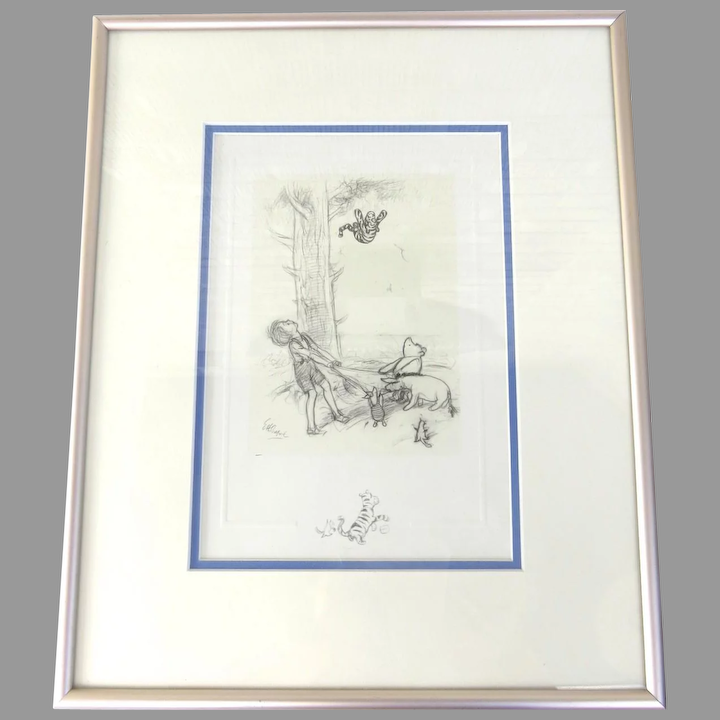Framed /& Ready To Hang Winnie The Pooh