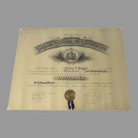 Large Diploma 1903 Eagan School of Business Ribbon