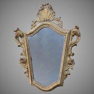 19th Century Italian Carved and Gilt Mirror Baroque Taste
