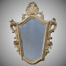19th Century Italian Carved and Gilt Mirror Baroque Taste