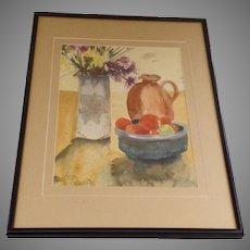 Still Life Watercolor by Colorado Artist Sheila Carter Signed 1980's