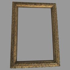 1900's Picture Frame Large Gilt Gesso