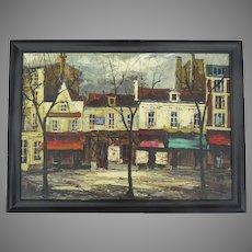Painting Oil on Canvas by Jose Daroca Spanish Artist Signed 1964 Modernist Paris