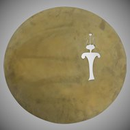Signed Dated kokopelli Wall Disc by Denver Artist Fred Myers Petroglyph