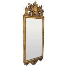 19th Century Swiss Carved Gilt Mirror