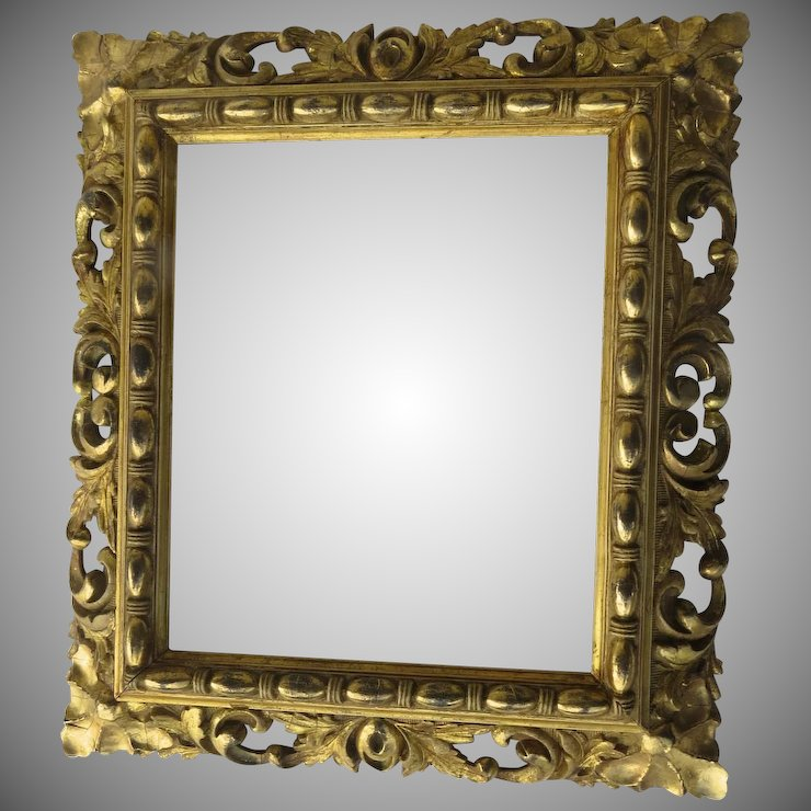 19th Century Gilt Carved Picture Frame by J. C. Newcomb : Black ...