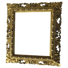 19th Century Gilt Carved Picture Frame by J. C. Newcomb Newcomb-Macklin