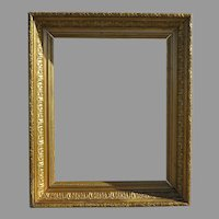 19th Century Gold Gilt & Gesso Wood Frame Acanthus Leaf Motif