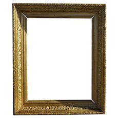 19th Century Gold Gilt & Gesso Wood Frame Acanthus Leaf Motif