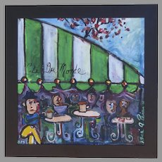 Painting of Cafe Du Monde by Rene A. (Antonio) Perez Framed