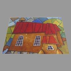 """Vintage Watercolor by Robert Yackel """"Santisima Trinidad Arroyo Seco NM"""""""