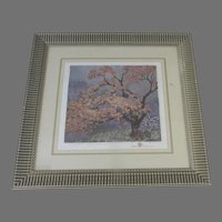 """Beautifully Frame Gustave Baumann """"Spring Blossoms"""""""