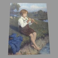 Print Published early 20th century of painting by Simon Gluchlich (1863-1943). German artist.