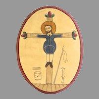 "Folk art by Frankie Nazario Lucero ""Saint Acacius"""