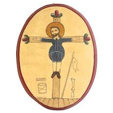 "Folk art byFrankie Nazario Lucero ""Saint Acacius"""