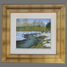 Signed Painting Wentworth Gallery River's Bend