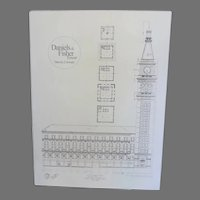 Large Print of Canvas of Denver's Clock Daniels and Fisher Building