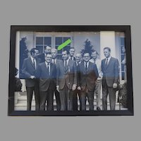 Group Photograph of President Nixon, Senator Peter Dominick, and Others