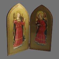 Vintage Florentine Guilt Folding Italian ArchAngels Decor