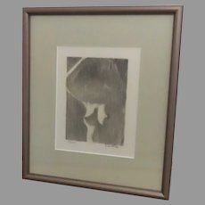 Paul Seckel Revelle Art Piece Lithograph Signed and Numbered Abstract Art Nude