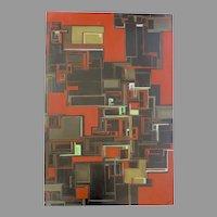 Abstract Red Wall Art Home Decor Modern Canvas Geometric Painting Artist by Denver Artist Jennifer Hoifeldt