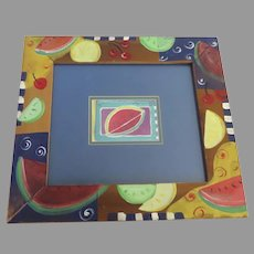 Watermelon Art Piece and Frame Colorful Fruits By Donna Burgess Watercolor