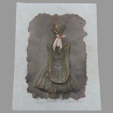 "Original Cast Paper Sculpture by Ellen Sweeney Cline Degas ""Little Dancer Aged Fourteen""  Signed"