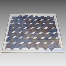 Large Woven Paper Collage by Tammy Price 1990