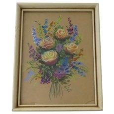 Vintage Floral Pastel Picture by Mimi Joy AKA Mabel C. Heyde