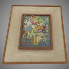 Nicely Painted Vintage Still Life Flowers Signed
