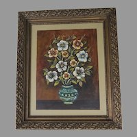 Vintage  Oil on Masonite Still Life Signed Alex Linenberger