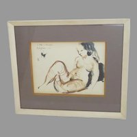 Nude by William Saltzman (1916-2006) Signed Dated 1953