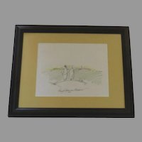 Sketch Signed and Dated by Wendy Anderson Halperin