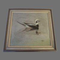 Oil on Board by Karl Plath Signed Duck