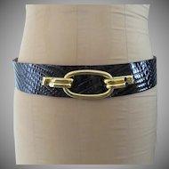 Black Patent Anne Klein for Calderon Black Vintage Belt L