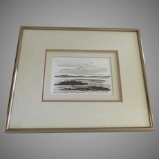Chee Kludt Ricketts Signed Watercolor Landscape