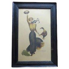 """F. Earl Christy """"Princeton Girl"""" Print Football Player 1900 Univer"""