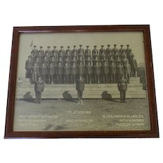 Vintage 1963 First Battalion Platoon 189 Parris Island S. C. Group Photo Framed Marine