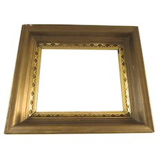 American Gilt and Painted Small Mirror